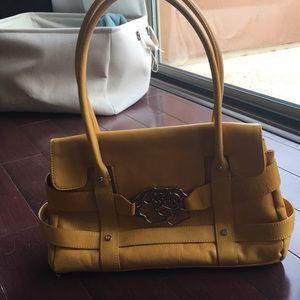 Franco Sarto yellow leather bag